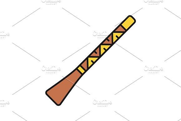 Didgeridoo Color Icon