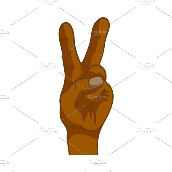 Black Hand In Victory Gesture