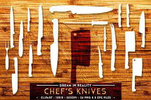 Chef's Knives | Knife Set Vectors