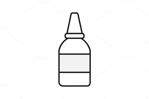 Eye Or Nasal Drops Color Icon