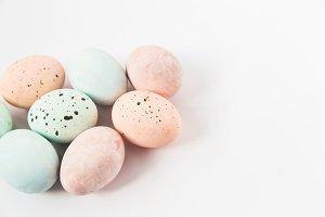 Minimalist pastel Easter eggs