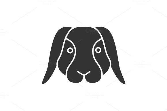 Dwarf Rabbit Glyph Icon