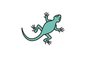 Lizard color icon