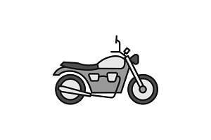 Motorbike color icon