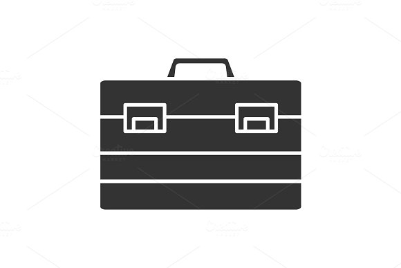 Construction Toolbox Glyph Icon