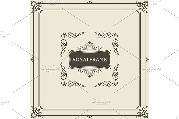 Vintage Ornament Greeting Card Vector Template Retro Luxury Invitation Royal Certificate Flourishes Frame Vintage Background Vintage Frame Vintage Ornament Ornaments Vector Ornamental Frame