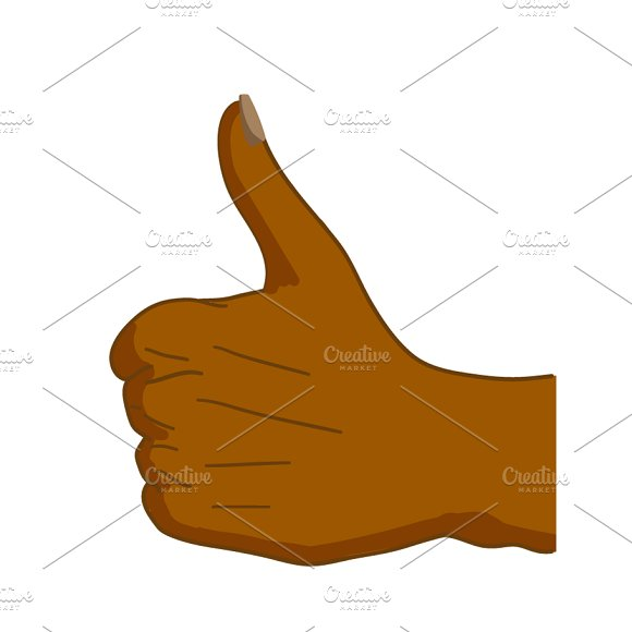 Black Hand In Thumbs-up Gesture