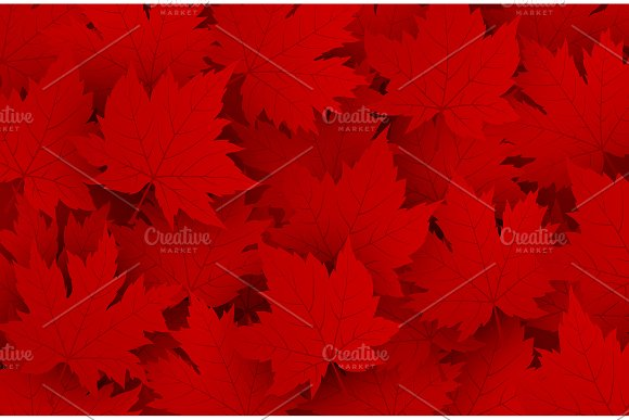 Red Maple Leave Background