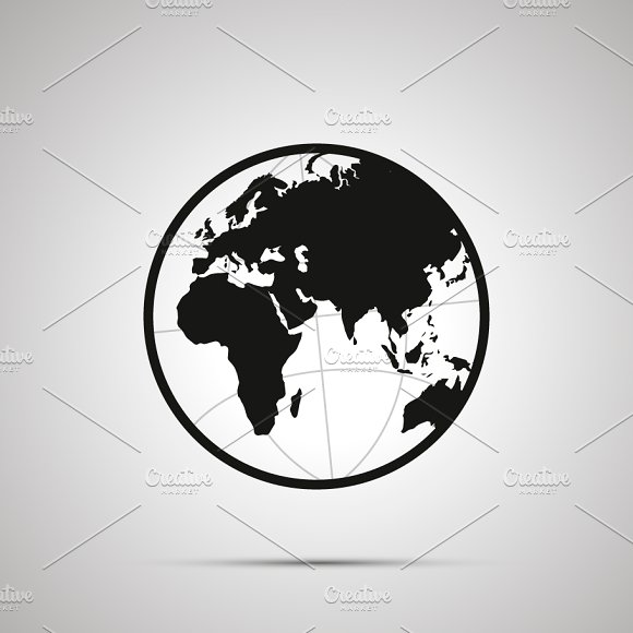 Europe and africa side of world map graphic objects creative market gumiabroncs Image collections