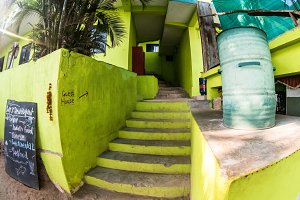 Steps to guest house