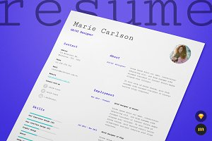 Single Page Resume/CV and Cover Lett