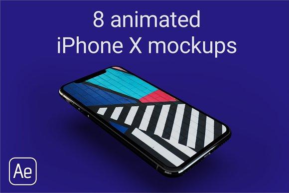 Animated IPhone X Mockups