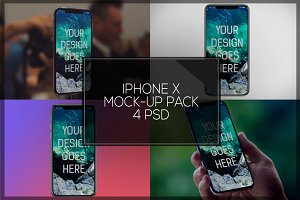 iPhone X Mock-up Pack #1
