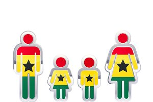 People icon with Ghana flag