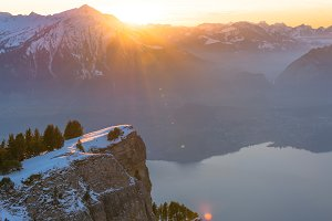 Sunset at the Alps