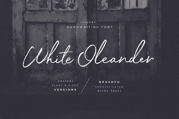 White Oleander Handwritten Font