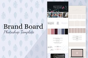 Brand Board Template: Days Of Love