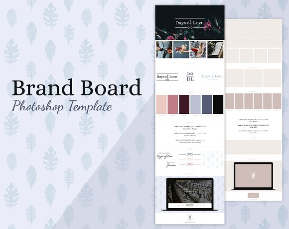 Brand Board Template Days Of Love