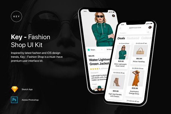Key Fashion Shop UI Kit