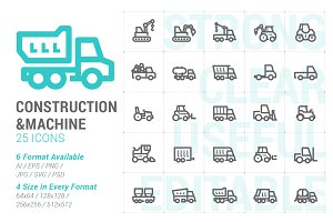 Construction & Machine Mini Icon