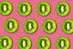 Kiwi fruit slices pattern