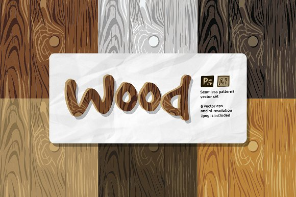 Wood Patterns Vector Set
