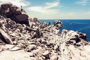 Rocky coastline in Sardinia