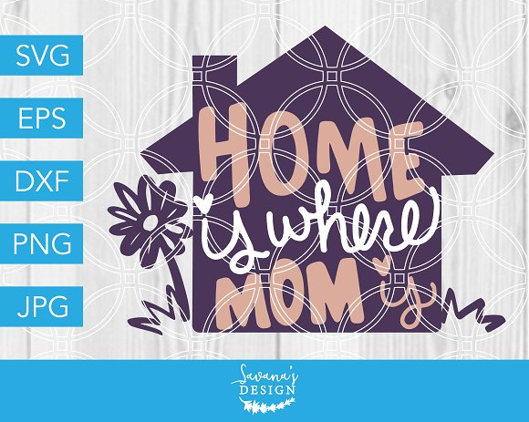 Home Is Where Mom Is SVG Cut File