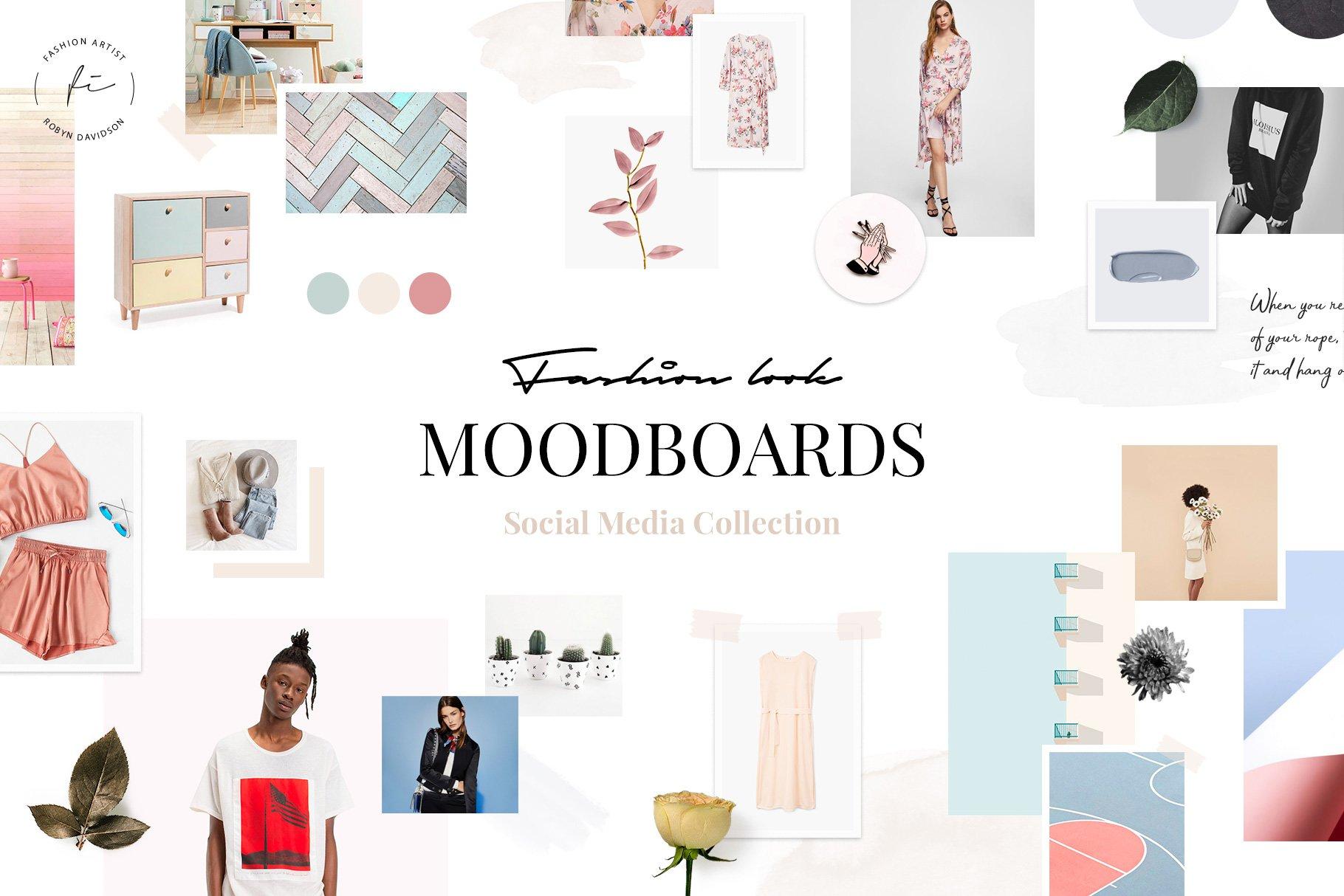 Feminine Moodboard Templates Creative Market