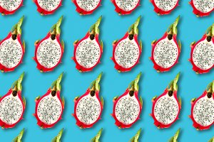 Pitaya fruit slices pattern
