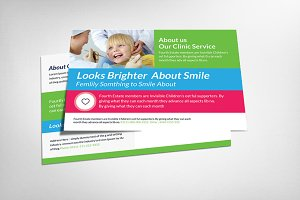 Kids Dental Postcard Templates