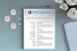 Resume Template/CV - Rose