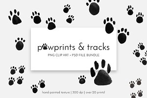 Pawprints & Animal Tracks Clip Art