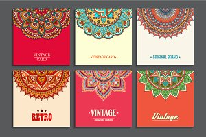 9 Card in ethnic style