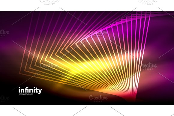 Shiny Straight Lines On Dark Background Techno Digital Modern Template
