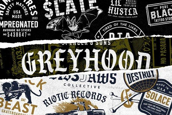 S S GreyHood Font Bundles