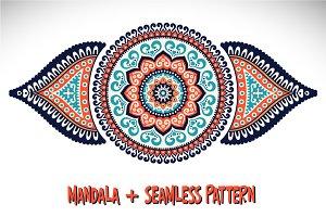 Mandala + Seamless pattern