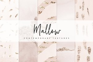 Chic Watercolor Foil Nude Textures