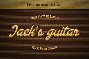 Jack's Guitar. Handwritten script.
