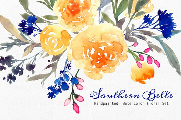 Southern Belle Watercolor Floral S