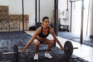 Female athlete in gym