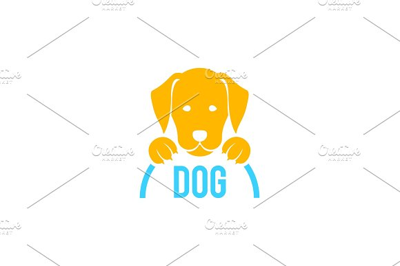Dog Sign And Logo Vector For Veterinary Clinic