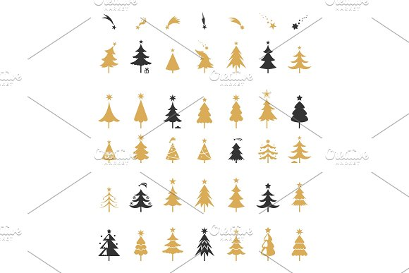 Christmas Tree Silhouette Design Vector