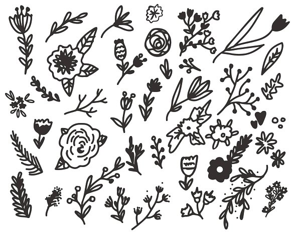 40 Doodle Hand Drawn Elements