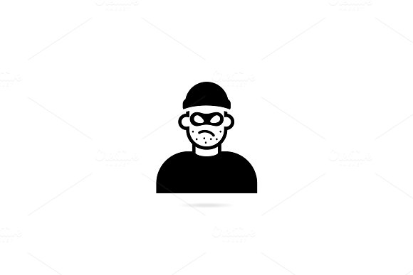 Symbol Thief Vector Icon