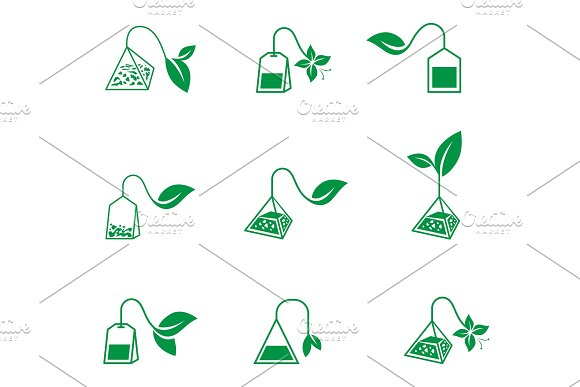 Tea Ceremony Vector Icons On A White Background