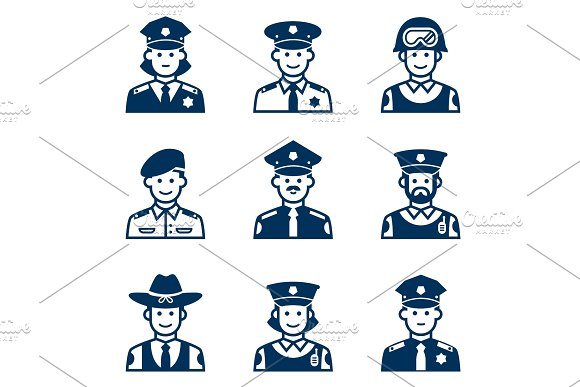 People Occupations Icons Police Icon