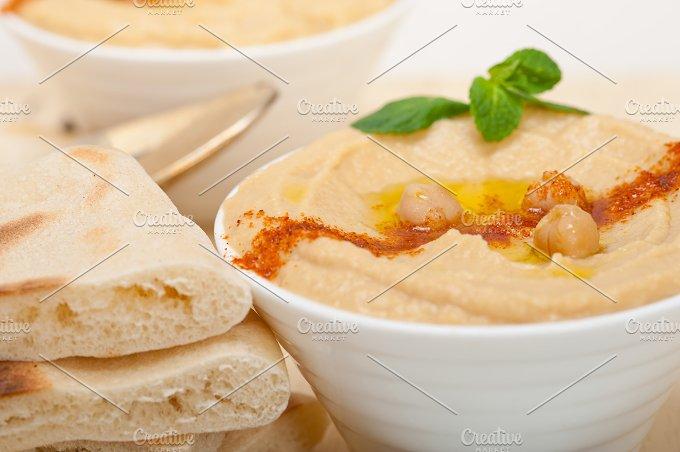 fresh hummus and pita bread 034.jpg - Food & Drink
