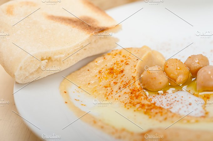fresh hummus and pita bread 037.jpg - Food & Drink