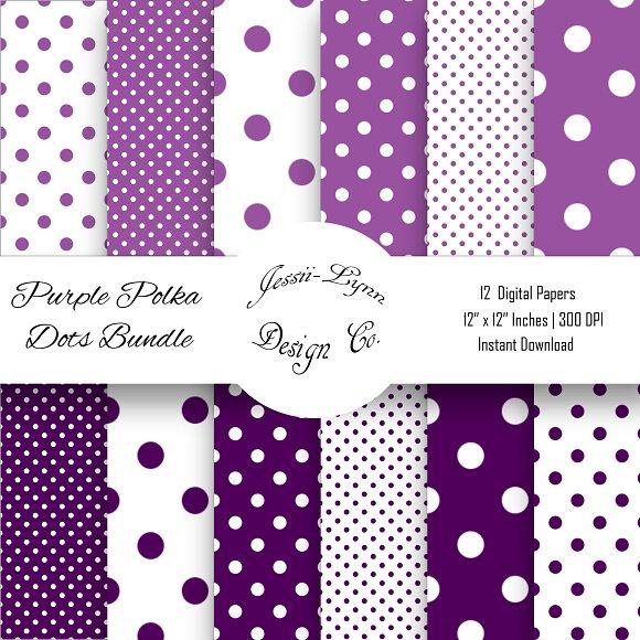 Purple And White Polka Dots Bundle